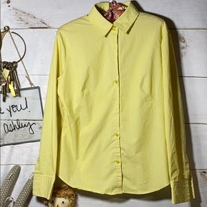 New York & Company; Yellow; Blouse; Top; L